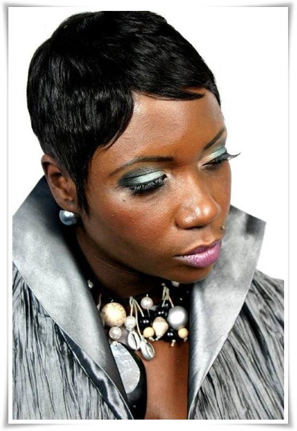 55 Winning Short Hairstyles For Black Women Throughout Long Haircuts For Black Women (View 23 of 25)