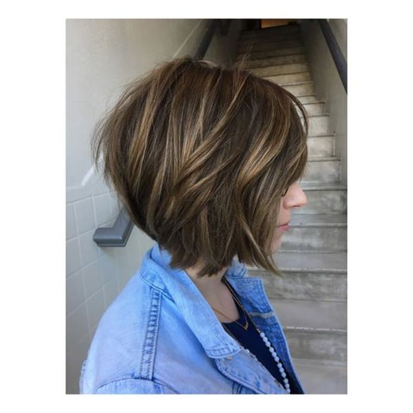 56 Stacked Bob Hairstyle For The Style Year 2019 – Style Easily In Blonde Textured Haircuts With Angled Layers (View 22 of 25)