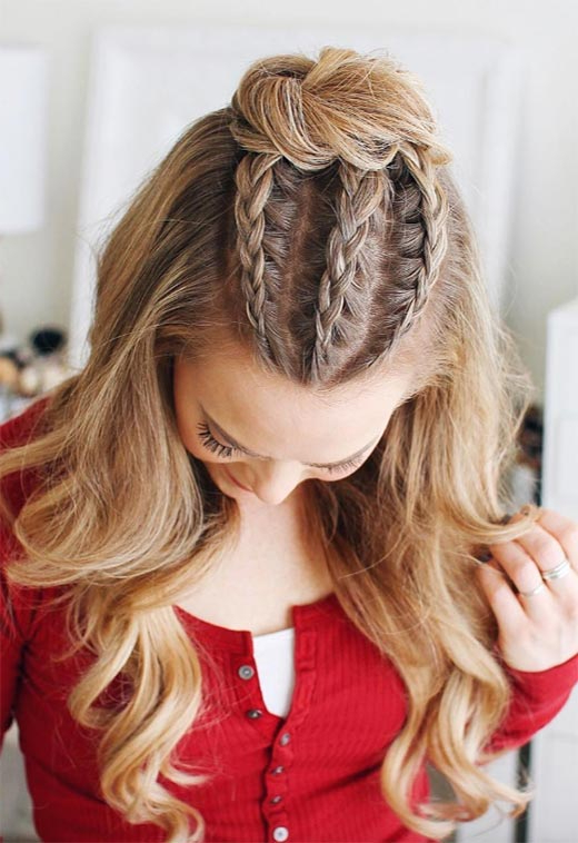 57 Amazing Braided Hairstyles For Long Hair For Every Occasion – Glowsly Pertaining To Long Hairstyles Half (View 22 of 25)