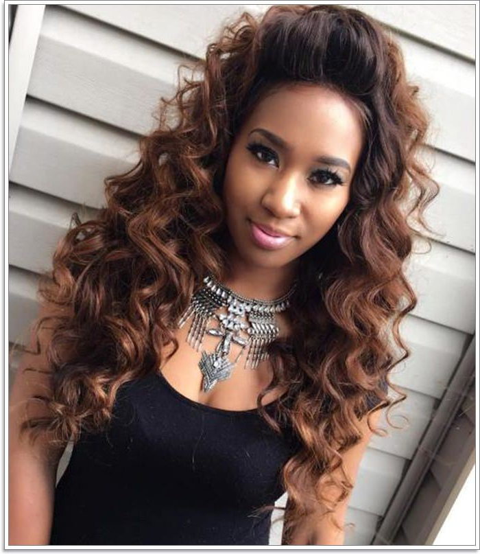 58 Exciting Sew In Hairstyles To Try In 2019 With Regard To Wavy Long Weave Hairstyles (View 20 of 25)