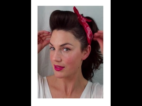 6 Pin Up Looks For Beginners ( Quick And Easy Vintage/ Retro Inside Long Hairstyles Retro (View 25 of 25)