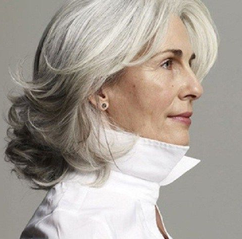 60 Gorgeous Gray Hair Styles | Hairstyles | Grey Hair Over 50, Hair Pertaining To Long Hairstyles Grey Hair (View 2 of 25)