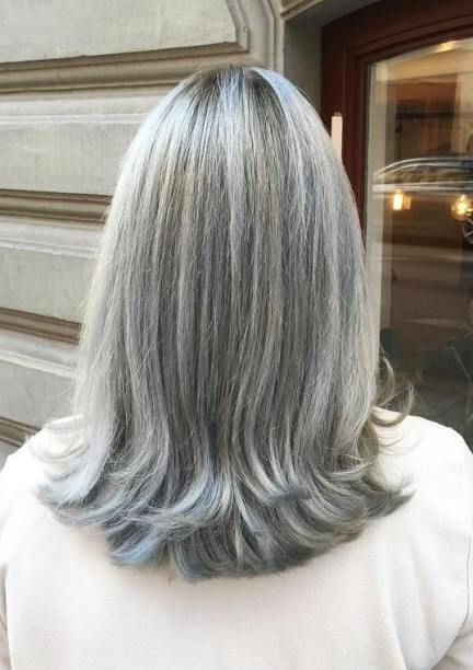 60 Gorgeous Gray Hair Styles In 2019 | Gray Hairdon't Care For White Blonde Flicked Long Hairstyles (View 13 of 25)