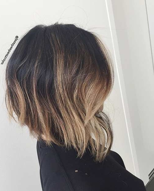 60 Hottest Bob Hairstyles For Everyone! (Short Bobs, Mobs, Lobs Inside Long Thick Black Hairstyles With Light Brown Balayage (View 22 of 25)