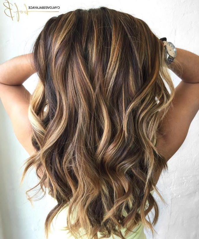 Featured Photo of Long Hairstyles Brown With Highlights