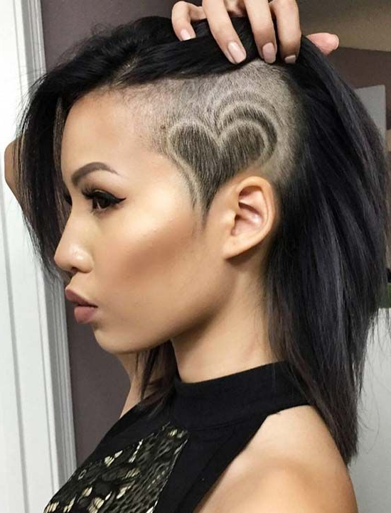 60 Modern Shaved Hairstyles And Edgy Undercuts For Women For Half Shaved Long Hairstyles (View 10 of 25)