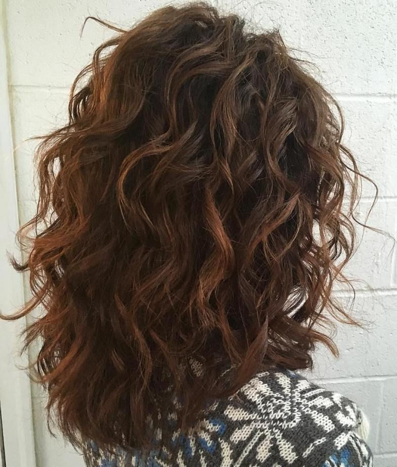 60 Most Magnetizing Hairstyles For Thick Wavy Hair In 2019 | Hair Pertaining To Long Layered Brunette Hairstyles With Curled Ends (View 10 of 25)