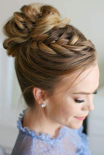 60+ Perfect Hair Updos For Perfect You | Lovehairstyles Intended For Messy High Bun Prom Updos (View 13 of 25)