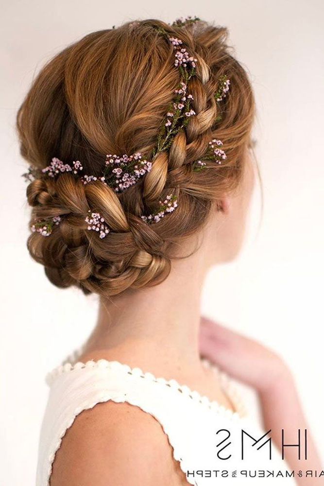 60 Sophisticated Prom Hair Updos   Hair   Wedding Hairstyles, Prom Inside Floral Braid Crowns Hairstyles For Prom (View 4 of 25)