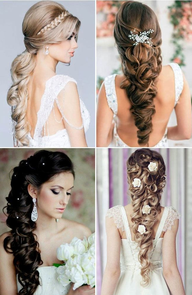 60+ Traditional Indian Bridal Hairstyles For Your Wedding | Bridal Regarding Indian Bridal Long Hairstyles (View 18 of 25)