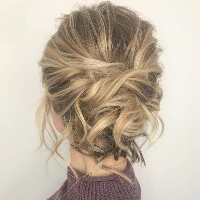 60 Trendiest Updos For Medium Length Hair In 2019 | Cool Hairstyles Within Tousled Prom Updos For Long Hair (View 3 of 25)