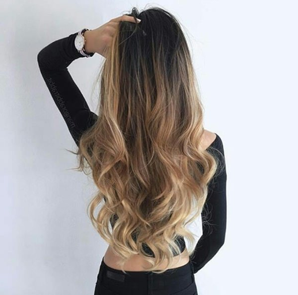 60 Trendy Ombre Hairstyles 2019 – Brunette, Blue, Red, Purple, Green Inside Layered Ombre For Long Hairstyles (View 20 of 25)