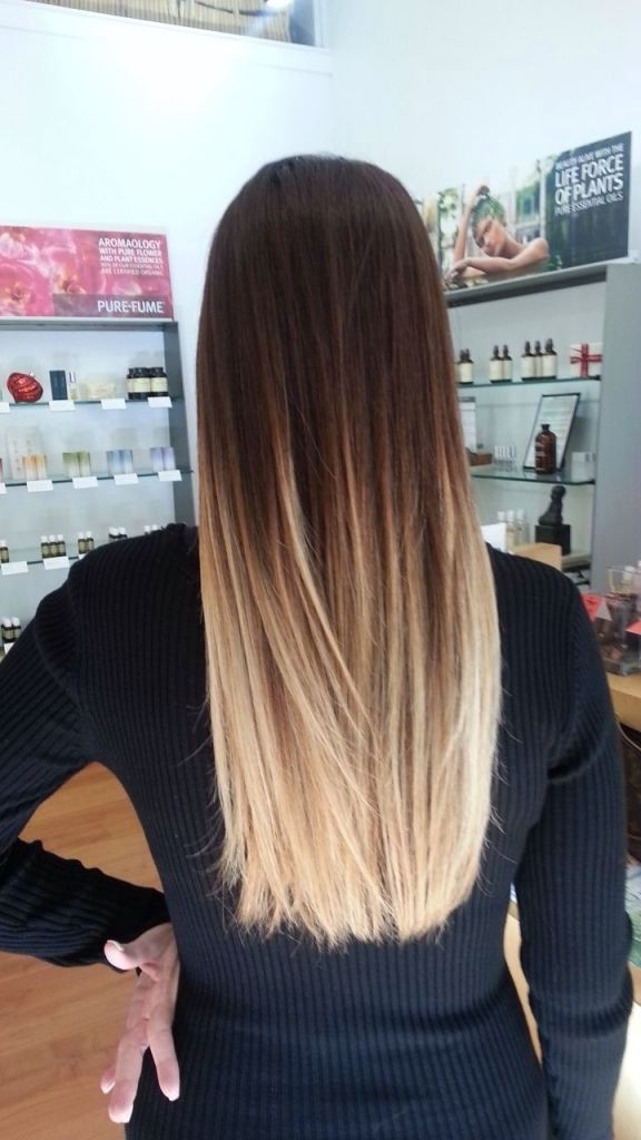 60 Trendy Ombre Hairstyles 2019 – Brunette, Blue, Red, Purple, Green Inside Long Layered Ombre Hairstyles (View 3 of 25)