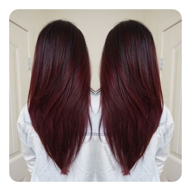 60 V Cut And U Cut Hairstyles To Give You The Right Angle For Long Hairstyles V Cut (View 16 of 25)