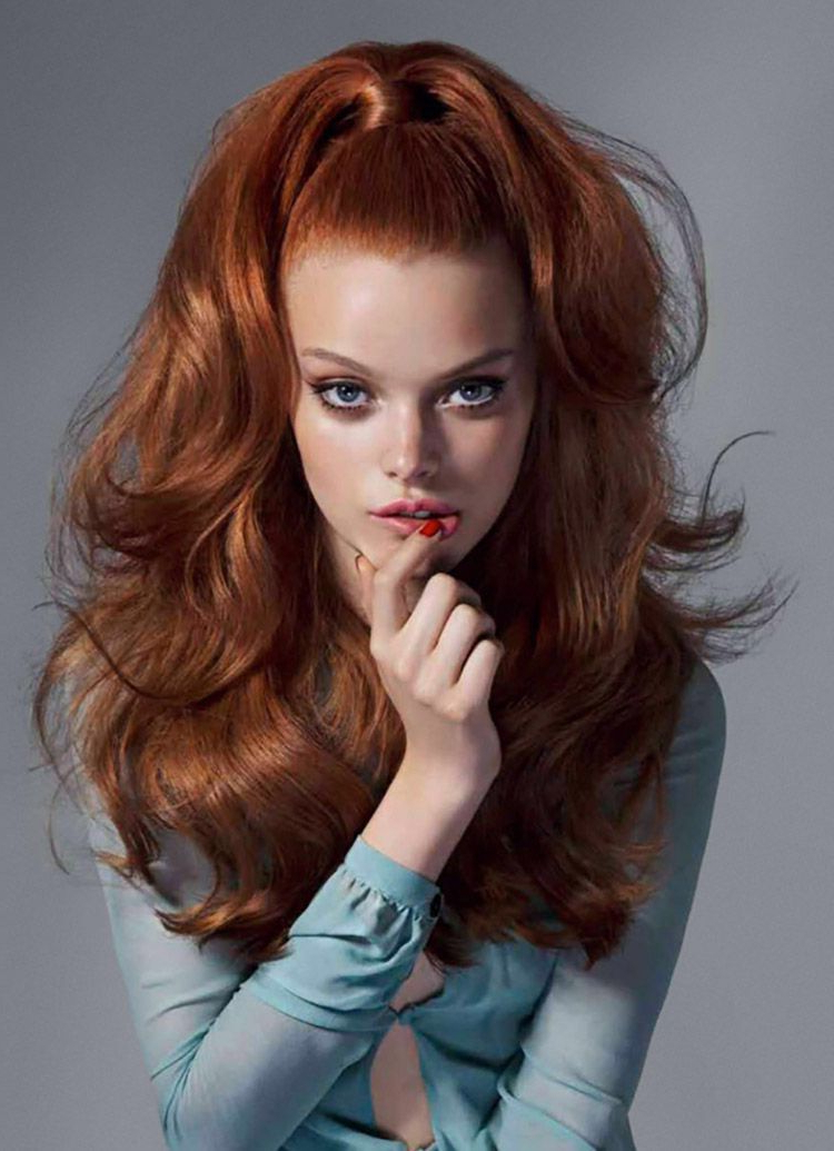 60S Hairstyle Redhead | The Box | 60S Hair, Hair Styles, Hair Intended For Long Hairstyles Redheads (View 14 of 25)