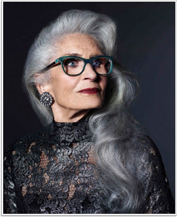 65 Gracious Hairstyles For Women Over 60 With Regard To Long Hairstyles For Grey Haired Woman (View 15 of 25)