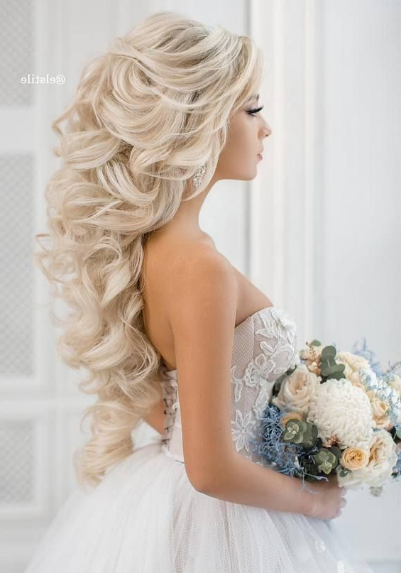 65 Long Bridesmaid Hair & Bridal Hairstyles For Wedding 2019 For Wedding Long Hairdos (View 9 of 25)