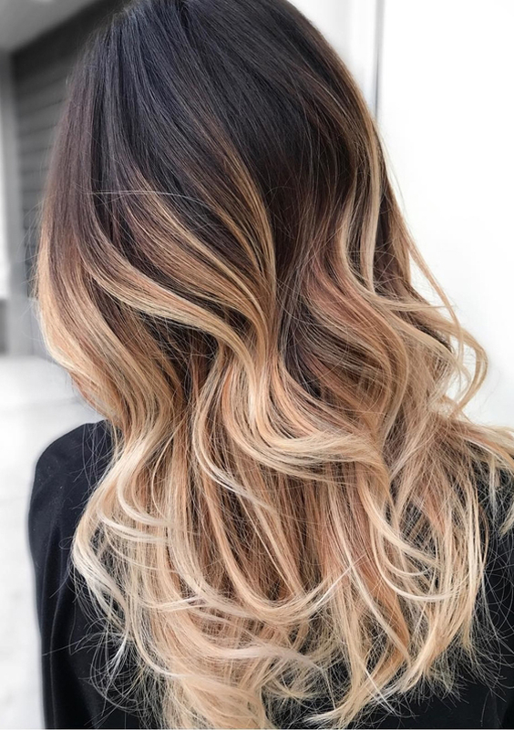 65 Natural Balyage Ombre Highlights For Long Hair 2017 2018 | Hollysoly Intended For Highlights For Long Hair (View 8 of 25)