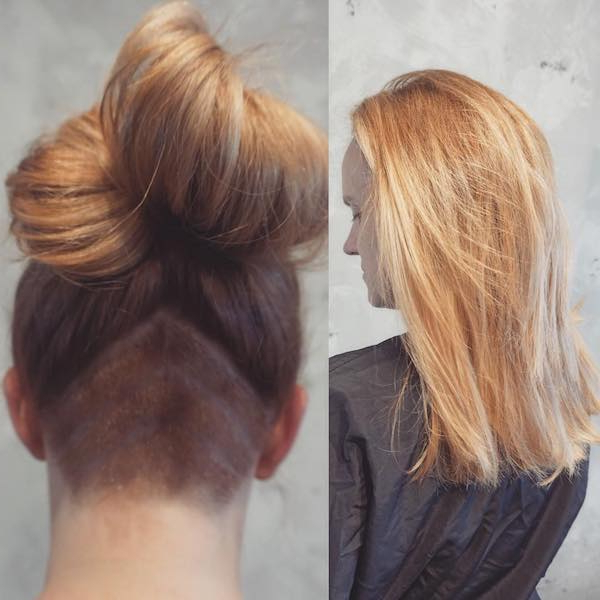 66 Shaved Hairstyles For Women That Turn Heads Everywhere Regarding Long Hairstyles Shaved Underneath (View 10 of 25)