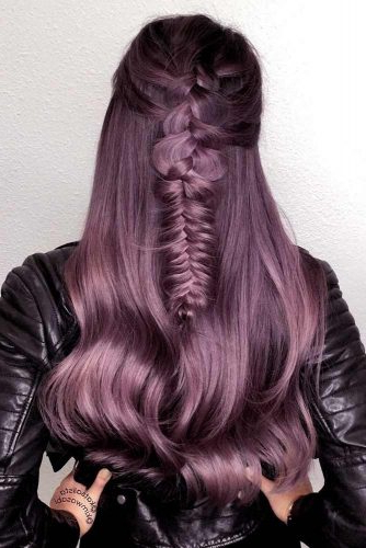 67 Tempting And Attractive Purple Hair Looks | Lovehairstyles For Purple Long Hairstyles (View 23 of 25)