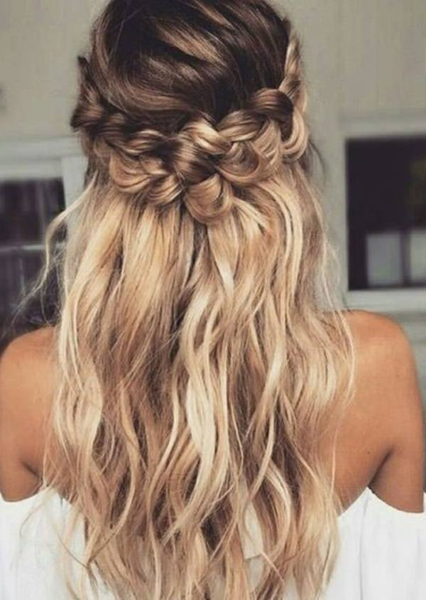 68 Elegant Half Up Half Down Hairstyles That You Will Love Intended For Long Hairstyles Half Up Half Down (View 9 of 25)