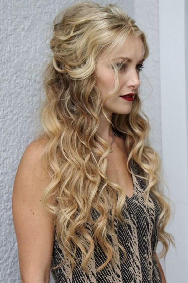 68 Elegant Half Up Half Down Hairstyles That You Will Love Throughout Long Hairstyles Half (View 7 of 25)