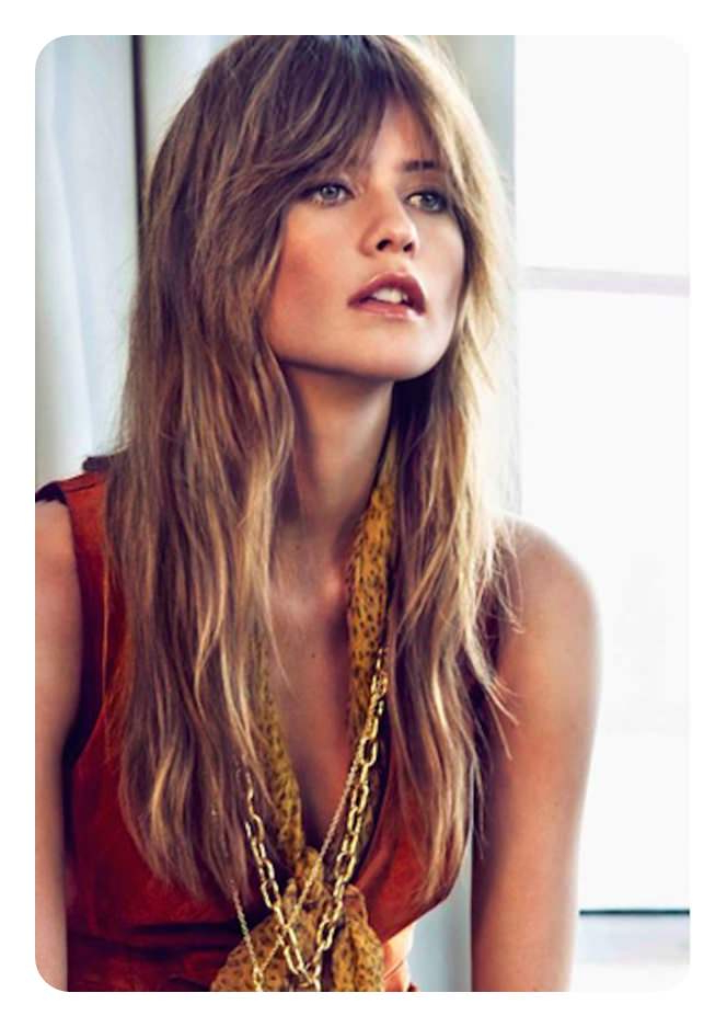 68 Long And Short Shag Haircuts For 2019 – Style Easily Regarding Haircuts For Long Fine Hair With Bangs (View 17 of 25)