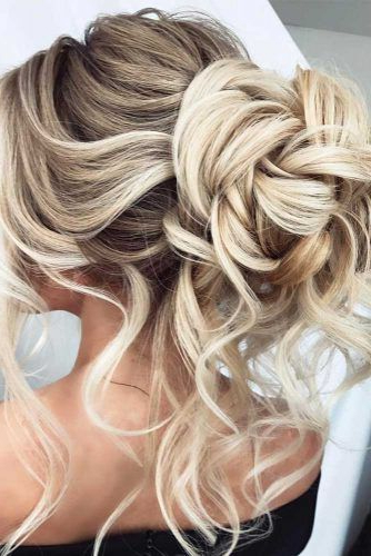 68 Stunning Prom Hairstyles For Long Hair For 2019 | Hair | Curly With Gorgeous Waved Prom Updos For Long Hair (View 2 of 25)