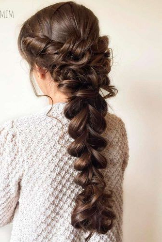 68 Stunning Prom Hairstyles For Long Hair For 2019 | Hair | Peinados With Regard To Asymmetrical Knotted Prom Updos (View 24 of 25)