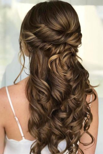 68 Stunning Prom Hairstyles For Long Hair For 2019 With Regard To Long Hairstyles Half Up (View 24 of 25)