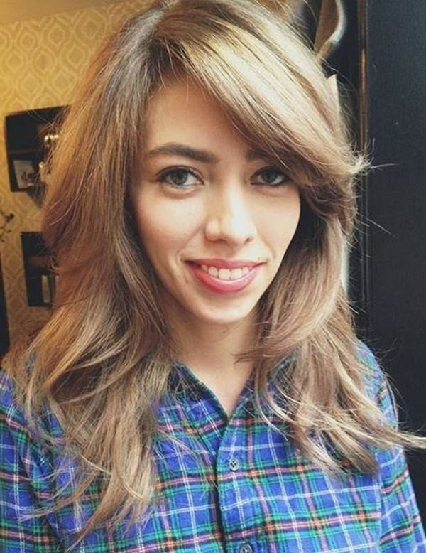 69 Gorgeous Ways To Make Layered Hair Pop For Long Haircuts Layers And Side Bangs (View 24 of 25)
