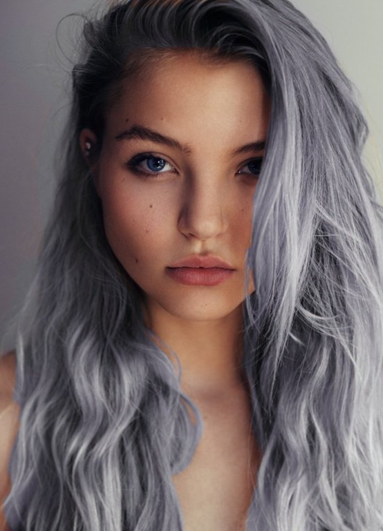 7 Amazing Hairstyles For Silver Grey Hair - Pretty Designs intended for Long Hairstyles Grey Hair