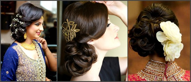7 Beautiful Bridal Bun Hairstyles! | Weddingplz within Side Bun Prom Hairstyles With Orchids