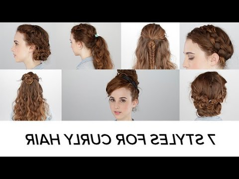 7 Easy Hairstyles For Curly Hair | Beauty Junkie - Youtube pertaining to Everyday Loose Wavy Curls For Long Hairstyles