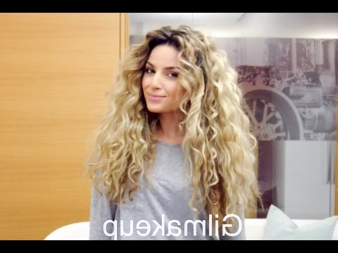 7 Easy Hairstyles For Curly Hair – Youtube Pertaining To Long Hairstyles Curly Hair (View 16 of 25)