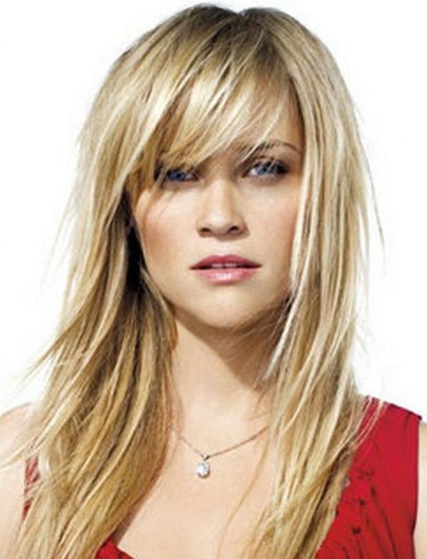 7+ Long Hairstyles With Choppy Bangs - Long Hairstyle - Beautiful for Choppy Long Hairstyles