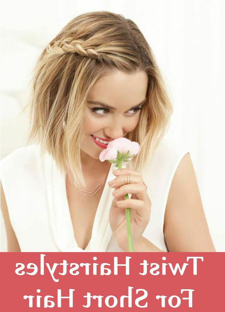 7 Stunning Twist Hairstyles For Short Hair | Gilscosmo Within Double Twist And Curls To One Side Prom Hairstyles (View 20 of 25)