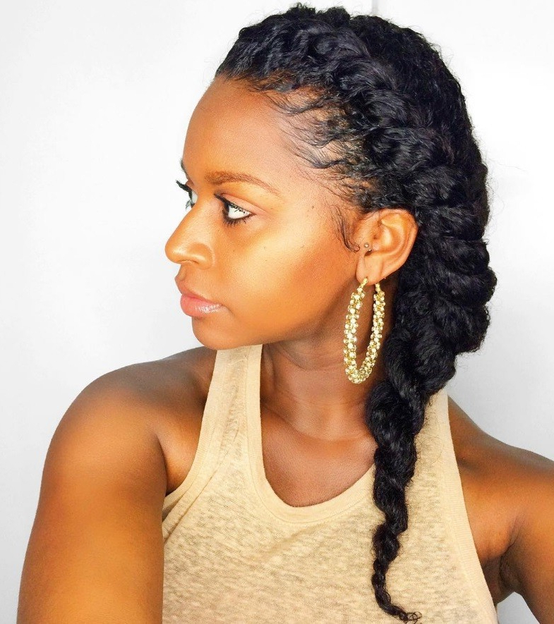 7 Two Strand Twist Styles That Are Giving Us Natural Hair Envy | All With Regard To Double Twist And Curls To One Side Prom Hairstyles (View 14 of 25)