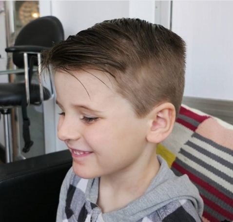 70 Best Boys Trendy Haircuts 2018 – Mrkidshaircuts Throughout Messy And Modern Side Swept Hairstyles (View 23 of 25)