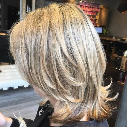70 Brightest Medium Layered Haircuts To Light You Up | Hairstyles In Two Tier Long Hairstyles (View 3 of 25)