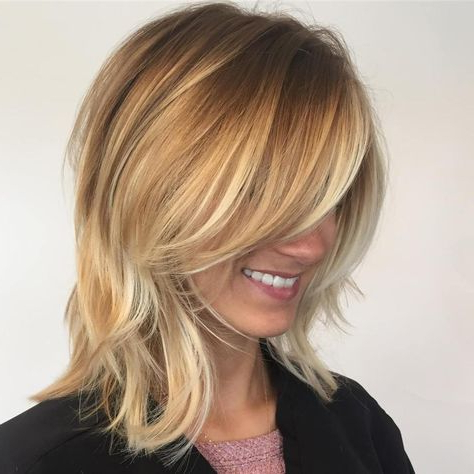 70 Brightest Medium Layered Haircuts To Light You Up | Nailed It Intended For Light Layers Hairstyles Enhanced By Color (View 22 of 25)