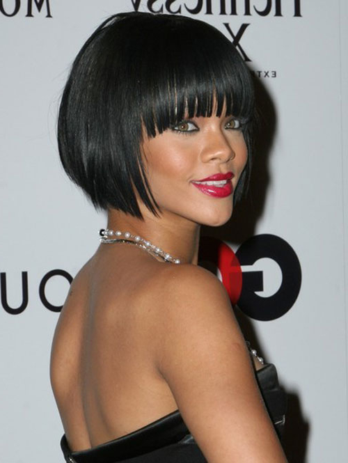 70 Brilliant Bob Weave Hairstyles To Go Against The Current For Long Bob Hairstyles With Bangs Weave (View 7 of 25)