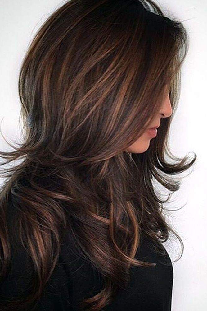 70 Fall Hair Color Hairstyles For Blonde Brown Red Carmel Colors with Long Hairstyles With Color