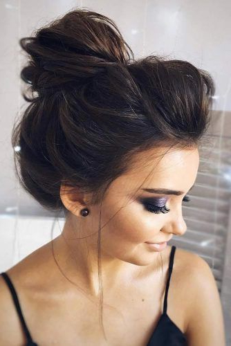 70+ Fun And Easy Updos For Long Hair | Lovehairstyles Intended For Messy High Bun Prom Updos (View 25 of 25)