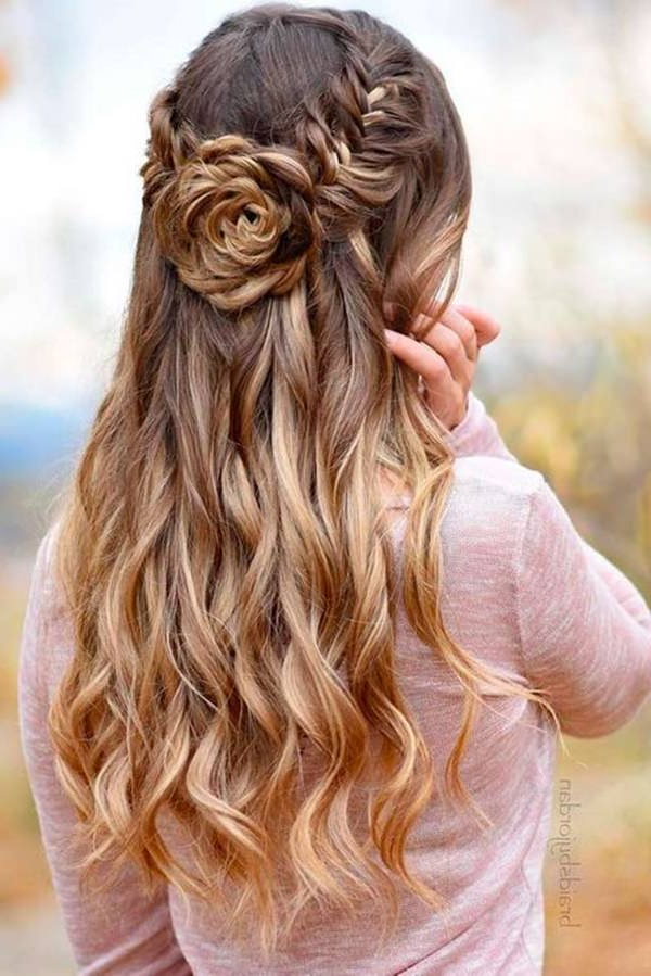 70 Prom Hair Ideas To Sparkle Like You Were A Queen Inside Side Swept Brunette Waves Hairstyles For Prom (View 21 of 25)