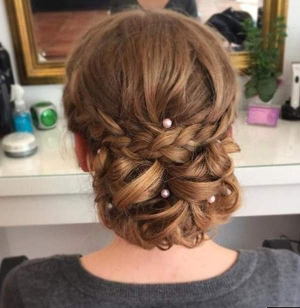 70 Prom Hair Ideas To Sparkle Like You Were A Queen With Low Pearled Prom Updos (View 4 of 25)