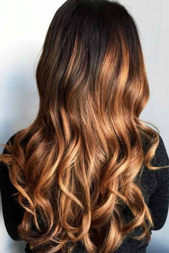 70+ Sexy Light Brown Hair Color Ideas | Lovehairstyles In Curly Golden Brown Balayage Long Hairstyles (View 10 of 25)