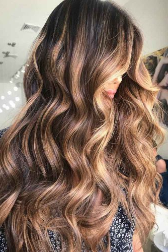 70+ Sexy Light Brown Hair Color Ideas | Lovehairstyles inside Highlights For Long Hair