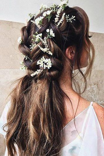 72 Best Wedding Hairstyles For Long Hair 2019 | Wedding Forward In Long Hairstyles Bridesmaid (View 24 of 25)
