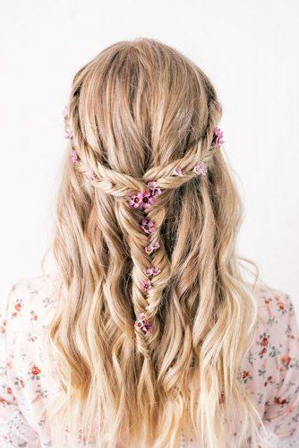 72 Best Wedding Hairstyles For Long Hair 2019 | Wedding Forward In Long Hairstyles Down For Wedding (View 18 of 25)